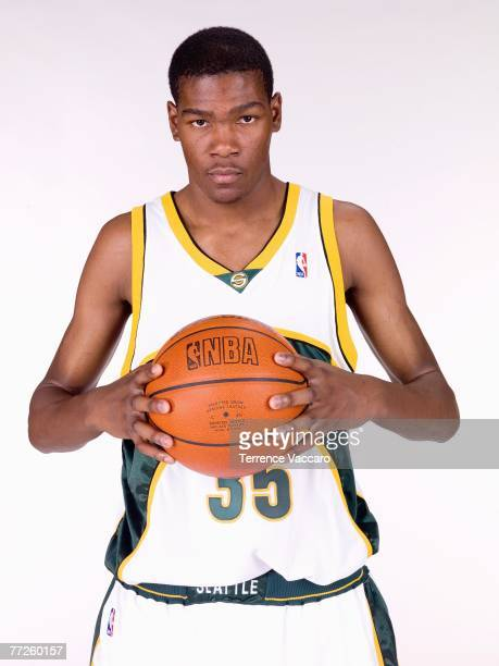 Kevin Durant of the Seattle SuperSonics poses for a portrait during NBA Media Day at the Furtado Center on October 1 2007 in Seattle Washington NOTE...