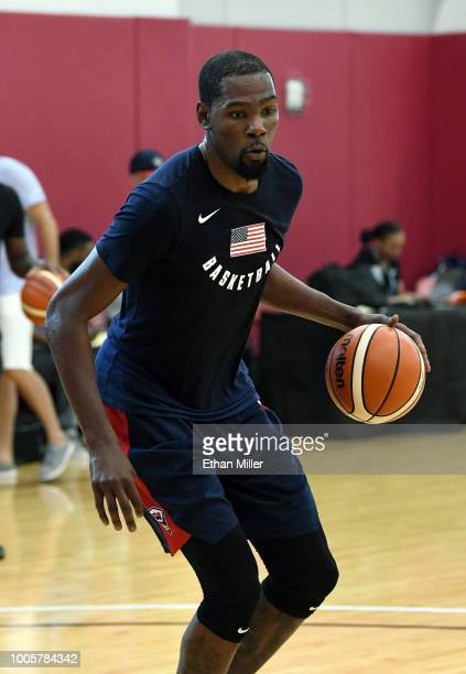 719804d2368b Kevin Durant of the United States attends a practice session at the 2018  USA Basketball Men s. 2018 USA Basketball Men s National Team Minicamp
