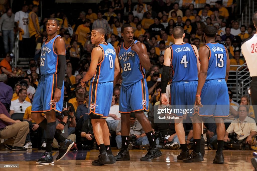 Oklahoma City Thunder v Los Angeles Lakers, Game 1