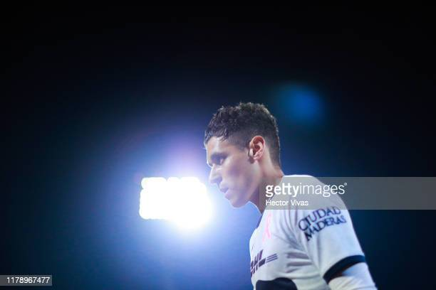 Kevin Escamilla of Pumas looks on during the 16th round match between Pumas UNAM and Atlas as part of the Torneo Apertura 2019 Liga MX at Olimpico...