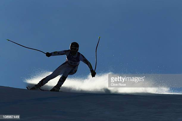 Kevin Esteve Rigail of Andorra skis in the Men's Downhill Training during the Alpine FIS Ski World Championships on the Kandahar course on February...