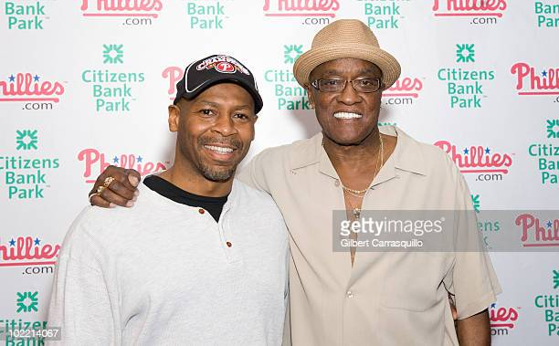 Kevin Eubanks and Billy Paul attend the 2010 Phillies Sound of Philadelphia Celebration at Citizens Bank Park on June 18 2010 in Philadelphia...