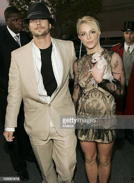 Kevin Federline and Britney Spears during 2004 Billboard Music Awards Red Carpet at MGM Grand Garden in Las Vegas Nevada United States