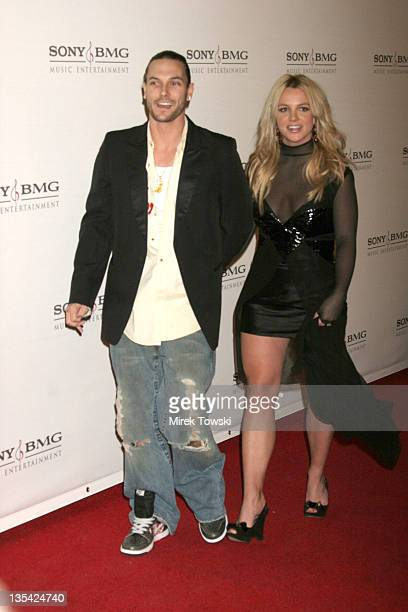 Kevin Federline and Britney Spears during 2006 Grammy Awards Sony BMG Party at Roosevelt Hotel/ Tropicana Bar in Hollywood California United States