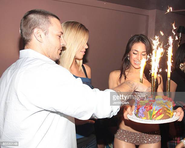 Kevin Federline and Victoria Prince attend Kevin Federline's 31st birthday celebration at M2 on March 19 2009 in New York City