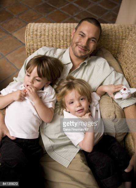 Kevin Federline at home with sons Sean and Jayden on November 29, 2008 in Los Angeles, California. Make-Up Artist Noseph Trinh/MMK Management.