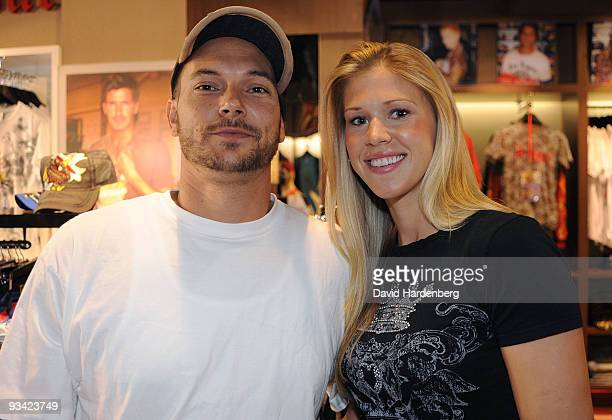 Kevin Federline exhusband of Britney Spears makes an instore appearance with girlfriend Victoria Prince at Ed Hardy Edward Street on November 26 2009...