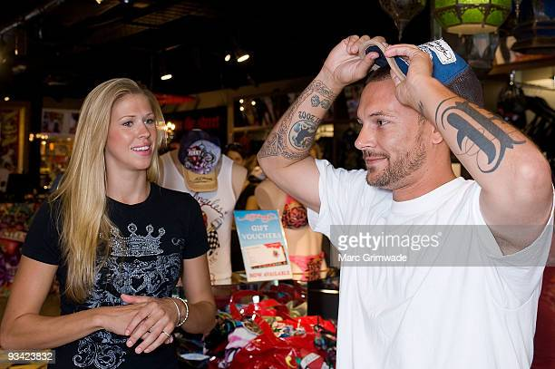 Kevin Federline exhusband of Britney Spears with girlfriend Victoria Prince makes an instore appearance at Ed Hardy Edward Street on November 26 2009...