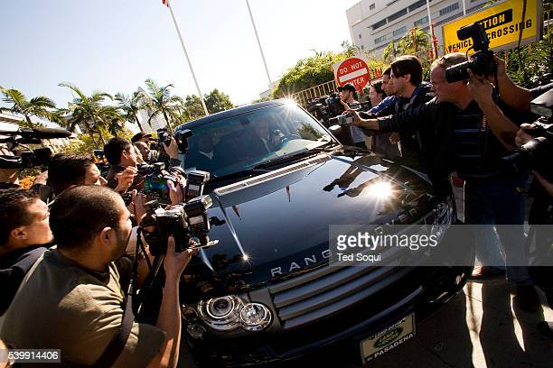 Kevin Federline's Range Rover tries to get past media surrounding the vehicle at LA Superior Court. Singer Britney Spears and Kevin Federline are...