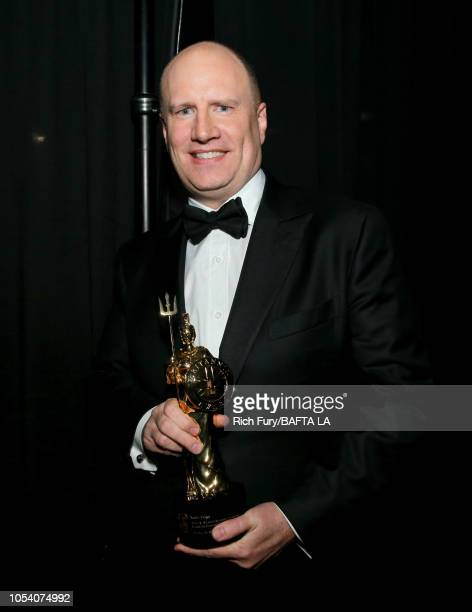 Kevin Feige seen backstage after accepting the Albert R Broccoli Award for Worldwide Contribution at the 2018 British Academy Britannia Awards...