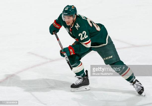 Kevin Fiala of the Minnesota Wild follows the play during a game with the Nashville Predators at Xcel Energy Center on March 3 2019 in St Paul...