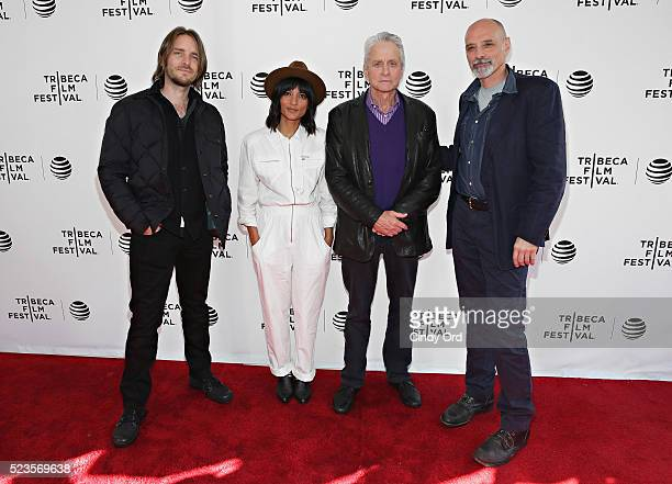 Kevin Ford Smriti Keshari Michael Douglas and Eric Schlosser attend Tribeca Talks What We Talk About When We Talk About The Bomb during the 2016...