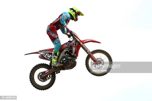 Kevin Fors of Belgium in action during the International German Motocross Championships on July 15 2017 in Tensfeld Germany