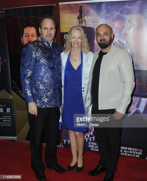Kevin Foster Kim Holland and Vahid Saatchi attend the Premiere Of Against The Wall held at Laemmle Monica Film Center on May 2 2019 in Santa Monica...