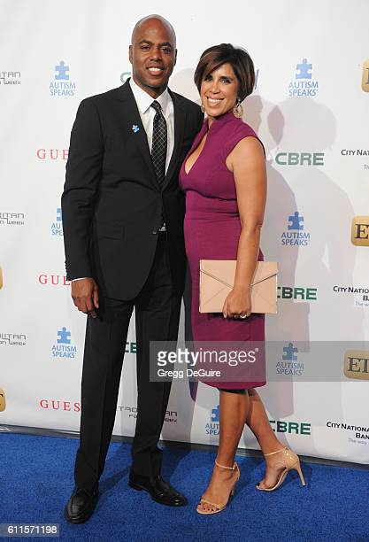 Kevin Frazier and wife Yazmin Cader Frazier arrive at the Metropolitan Fashion Week 2016 La Vie En Bleu Signature Event Benefiting Autism Speaks at...