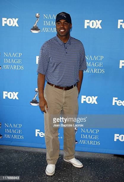 Kevin Frazier poses for a picture at the celebrity golf challenge to honor the nominees of the 39th Annual NAACP Image Awards February 12 at the...