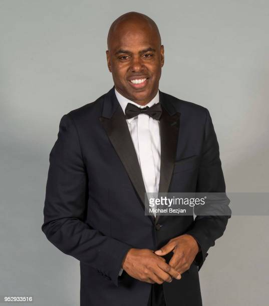 Kevin Frazier poses for portrait at 45th Daytime Emmy Awards Portraits by The Artists Project Sponsored by the Visual Snow Initiative on April 29...
