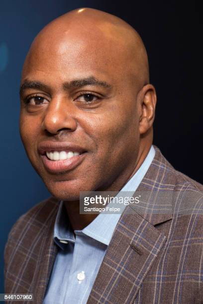 Kevin Frazier visits SiriusXM Studios on September 12 2017 in New York City