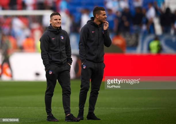 Kevin Gameiro and Lucas Hernandez of Atletico de Madrid prior the match of the UEFA Europa League final between Atletico de Madrid against Olympique...