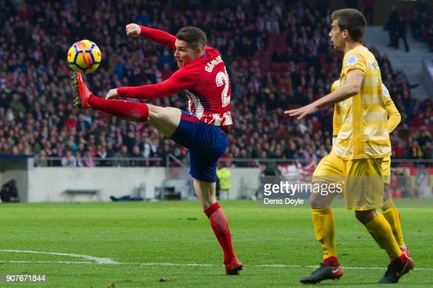 Kevin Gameiro of Atletico de Madrid controls the ball during the La Liga match between Atletico Madrid and Girona at estadio Wanda Metropolitano on...