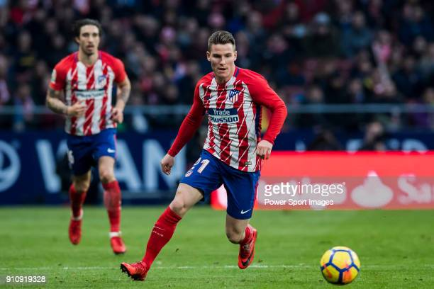 Kevin Gameiro of Atletico de Madrid in action during the La Liga 201718 match between Atletico de Madrid and Girona FC at Wanda Metropolitano on 20...