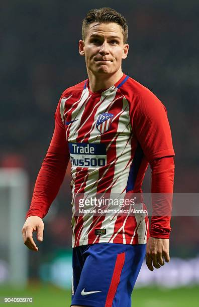 Kevin Gameiro of Atletico de Madrid looks on during the Copa del Rey Round of 16 second Leg match between Atletico de Madrid and Lleida on January 9...