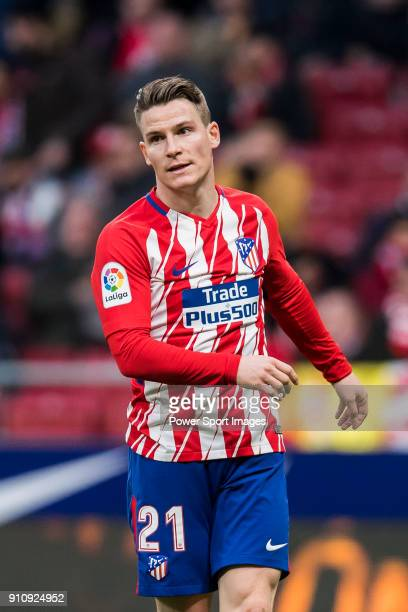Kevin Gameiro of Atletico de Madrid looks on during the La Liga 201718 match between Atletico de Madrid and Girona FC at Wanda Metropolitano on 20...
