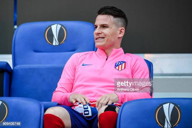 Kevin Gameiro of Atletico Madrid during the Europa League Final match between Marseille and Atletico Madrid at Groupama Stadium on May 16 2018 in...