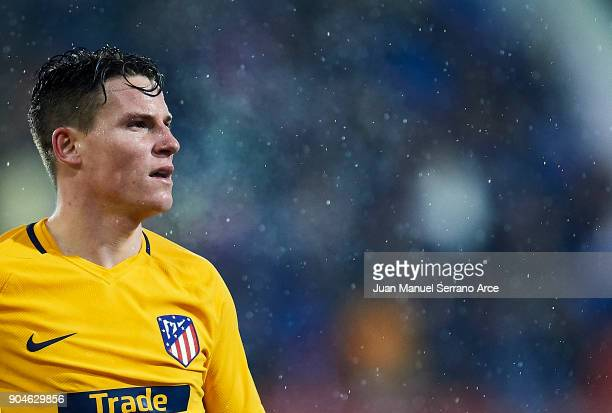 Kevin Gameiro of Atletico Madrid reacts during the La Liga match between SD Eibar and Atletico Madrid at Ipurua Municipal Stadium on January 13 2018...