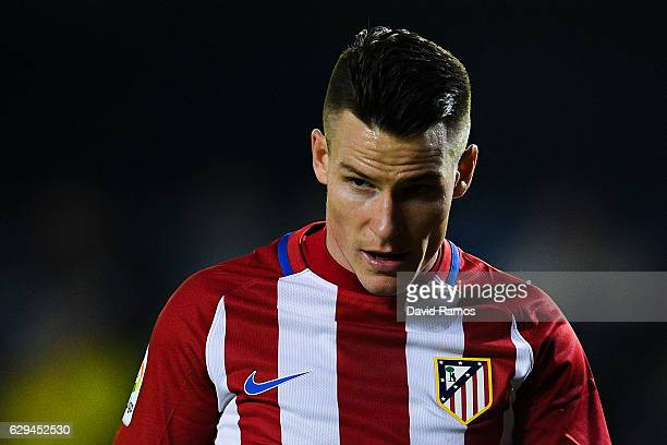 Kevin Gameiro of Club Atletico de Madrid looks on during the La Liga match between Villarreal CF and Club Atletico de Madrid at El Madrigal stadium...