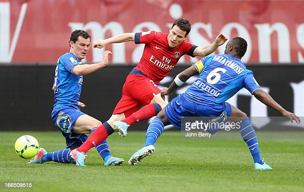 Kevin Gameiro of PSG in action during the Ligue 1 match between ES Troyes Aube Champagne ESTAC and Paris SaintGermain FC PSG at the Stade de l'Aube...