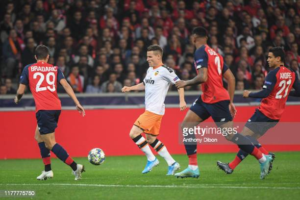 Kevin GAMEIRO of Valencia during the UEFA Champions League Group H match between Lille and Valencia on October 23 2019 in Lille France