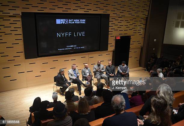 Kevin Gannon Khalil Gibran Muhammad Jelani Cobb Ashley Clark and Malkia Cyril attend the NYFF Live '13th' Panel Discussion during the 54th New York...