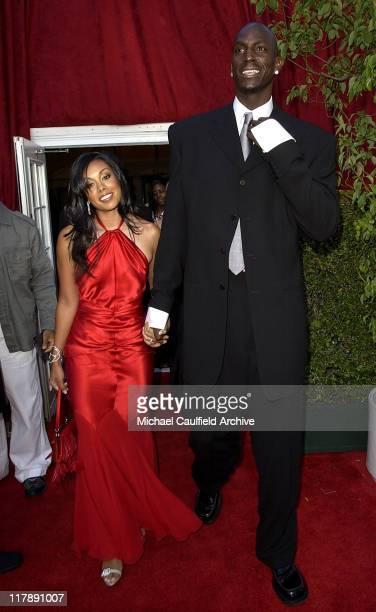 Kevin Garnett and Brandi Padilla during 2004 ESPY Awards Red Carpet at Kodak Theatre in Hollywood California United States