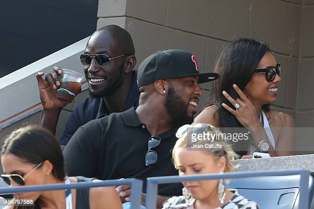 Kevin Garnett and his wife Brandi Garnett attend the women's semi finals during Day 12 of the 2014 US Open at USTA Billie Jean King National Tennis...