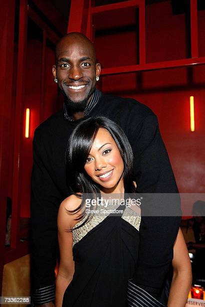 Kevin Garnett and wife Brandi attend the NBA AllStar Weekend Party hosted by GQ Magazine and Steve Nash of the Phoenix Suns in the VBar at the...