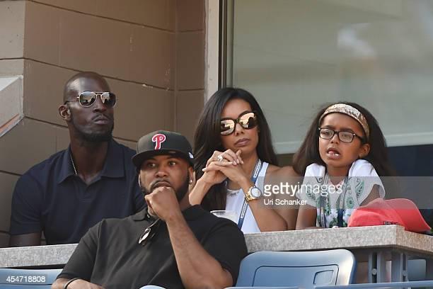 Kevin Garnett Brandi Padilla and Capri Garnett attend day 12 of the 2014 US Open at USTA Billie Jean King National Tennis Center on September 5 2014...