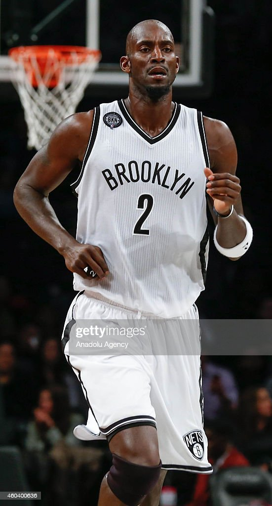 Kevin Garnett #2 of Brooklyn Nets in action during a basketball game against the Brooklyn Nets at the Barclays Center on December 12, 2014 in the Brooklyn borough of New York City, NY.
