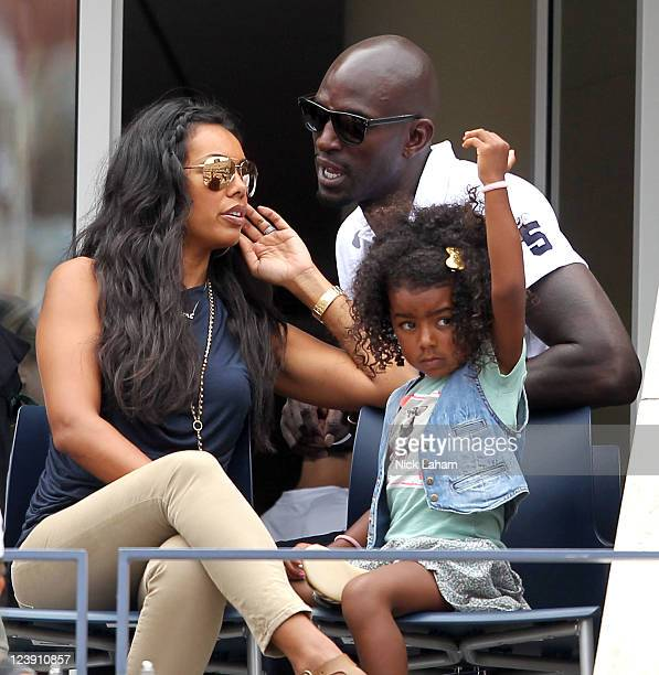 Kevin Garnett of the Boston Celtics his wife Brandi and daughter attend Day Eight of the 2011 US Open at the USTA Billie Jean King National Tennis...