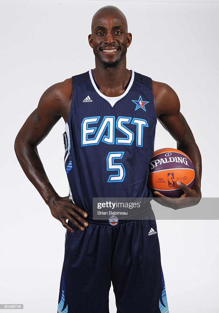 more photos 5ed6c 4572a Kevin Garnett of the Boston Celtics poses in his All Star ...