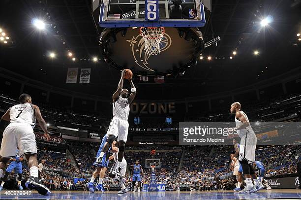 Kevin Garnett of the Brooklyn Nets grabs the rebound against the Orlando Magic on January 2 2015 at Amway Center in Orlando Florida NOTE TO USER User...
