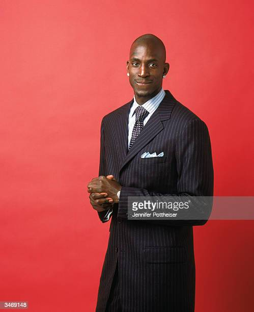 Kevin Garnett of the Minnesota Timberwolves poses for a portrait on December 1, 2003 in Minneapolis, Minnesota. NOTE TO USER: User expressly...