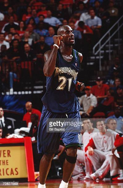 Kevin Garnett of the Minnesota Timberwolves runs on the court during a game against the Houston Rockets at the Toyota Center on November 28 2006 in...