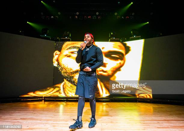 Kevin Gates performs during his I'm Him Tour 2019 at Royal Oak Music Theater on October 15 2019 in Royal Oak Michigan