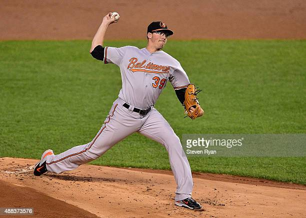 Kevin Gausman of the Baltimore Orioles delivers a pitch against the New York Yankees at Yankee Stadium on September 8 2015 in New York City The...