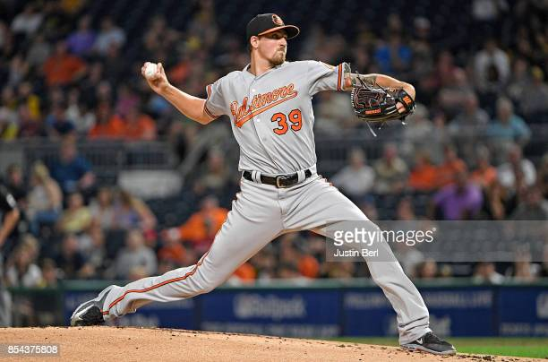 Kevin Gausman of the Baltimore Orioles delivers a pitch in the first inning during the game against the Pittsburgh Pirates at PNC Park on September...