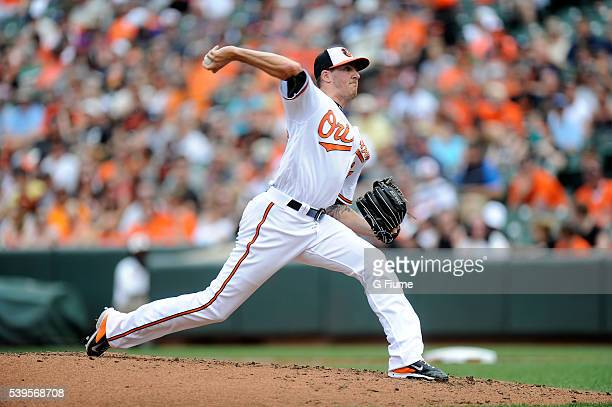 Kevin Gausman of the Baltimore Orioles pitches against the New York Yankees at Oriole Park at Camden Yards on June 5 2016 in Baltimore Maryland
