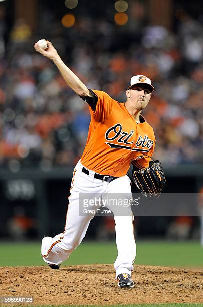 Kevin Gausman of the Baltimore Orioles pitches in the third inning against the New York Yankees at Oriole Park at Camden Yards on September 3 2016 in...