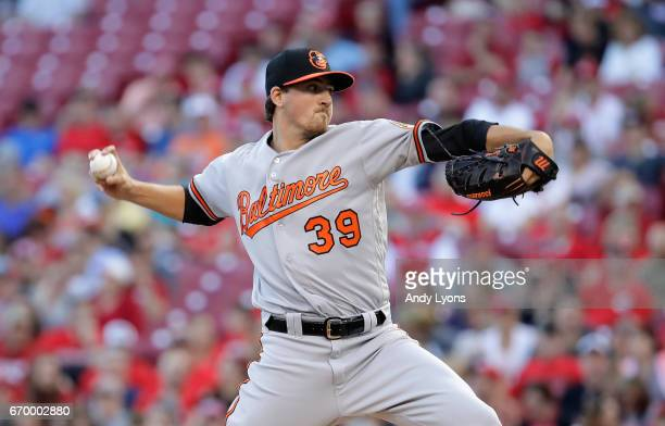 Kevin Gausman of the Baltimore Orioles throws the ball against the Cincinnati Reds at Great American Ball Park on April 18 2017 in Cincinnati Ohio