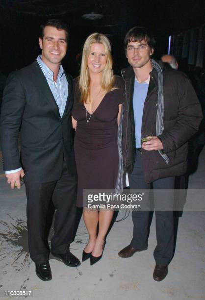 Kevin Gessay Crystal Carlton and Matt Bomer during MercedesBenz Fashion Week Fall 2007 Georg Jensen Cave Jewelry Launch Party at 7 World Trade Center...